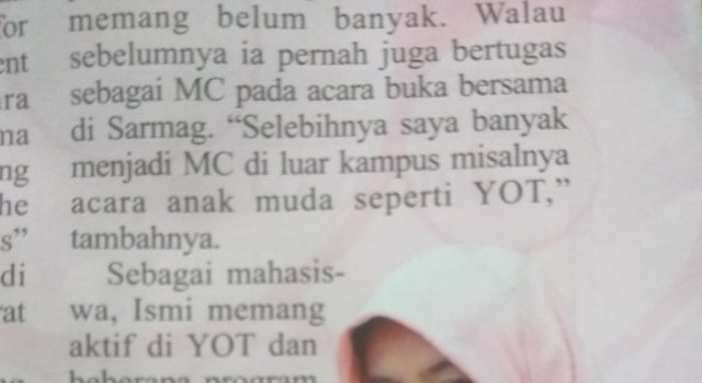 Ismi Alawiyah : Menjadi MC dan Pemakalah